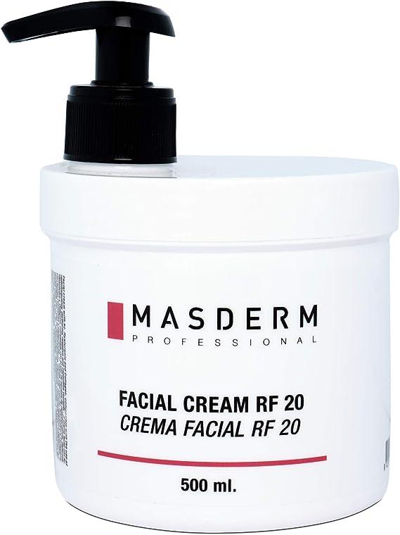 MASDERM   Crema Facial Radiofrecuencia Hidratante   Antiarrugas   Ácido Hialurónico   Colágeno   Profesional   Mujer   500ml