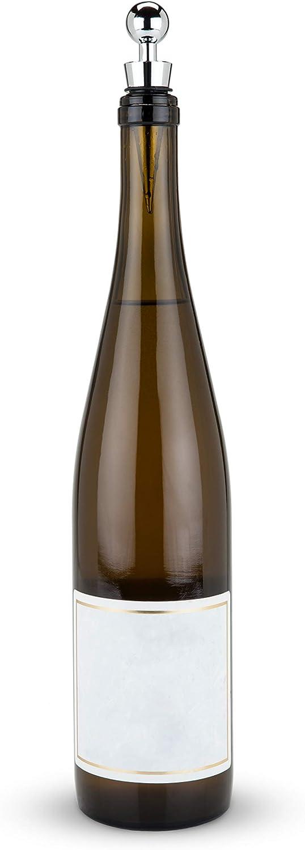 True Sphere Chrome Bottle Stopper, One Size