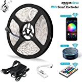 Litake LED Strip Lights, Wifi Wireless Smart Phone APP Controlled Light Strip Kit 16.4ft 300 Leds 5050 Waterproof IP65 LED Lights, Working with Android / IOS System, Alexa