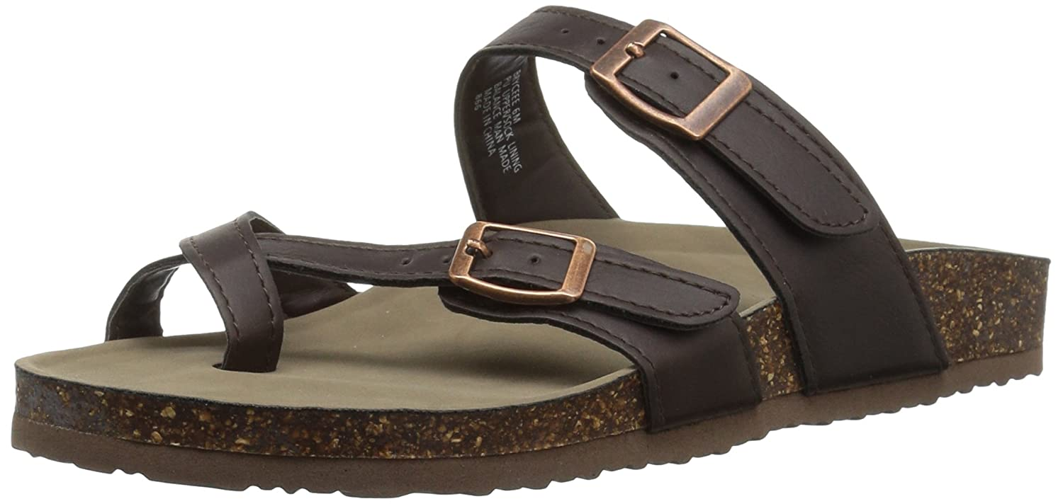 Madden Girl Women's Bryceee Toe Ring Sandal B076FXSD42 8 B(M) US|Dark Brown