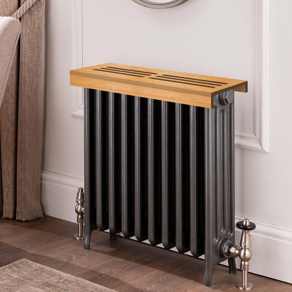 Unfinished teak Wooden Radiator Cover Shelf, 14'' Width x 10'' Length x 3'' Height