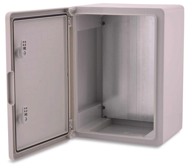 BOXEXPERT Caja de armario mural 300x400x220mm IP 65 gris RAL7035 Caja de distribuci/ón para armario de distribuci/ón