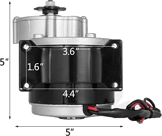 Moteur Electrique Brossé 24V 350W Rotation Réversible Pignon 410-9T 18.4A