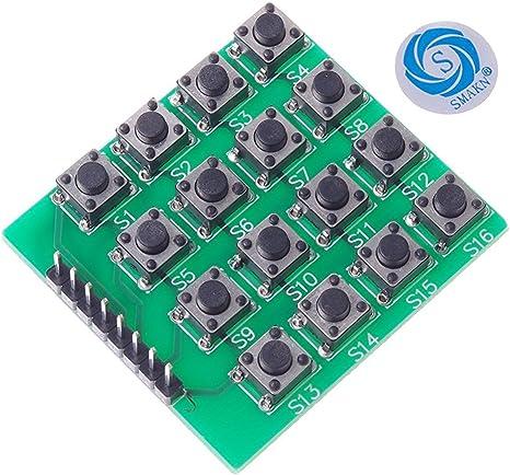 2pcs 4x4 4*4 Matrix Keypad Keyboard module 16 Botton mcu For Arduino