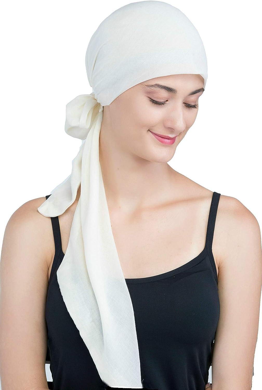 Chemotherapie Krebs Deresina Organic Pre-tie Ultraweiches Kopftuch Aus Baumwolle f/ür Haarverlust