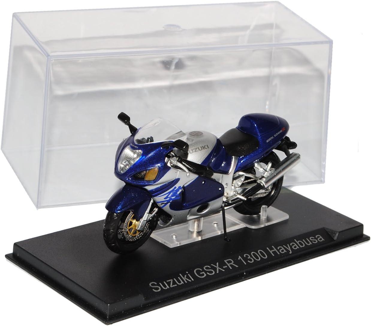 Ixo Suzuki GSX-R 1300 Hayabusa Blau Silber 1//24 Modellcarsonline Modell Motorrad mit individiuellem Wunschkennzeichen