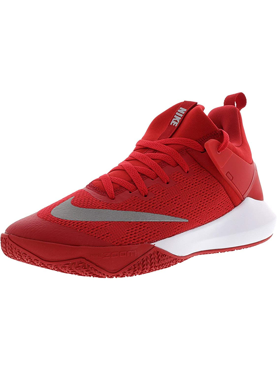 NIKE NIKE NIKE Men's Zoom Shift Tb University rot Weiß Ankle-High Mesh Basketball schuhe - 10M 208c14