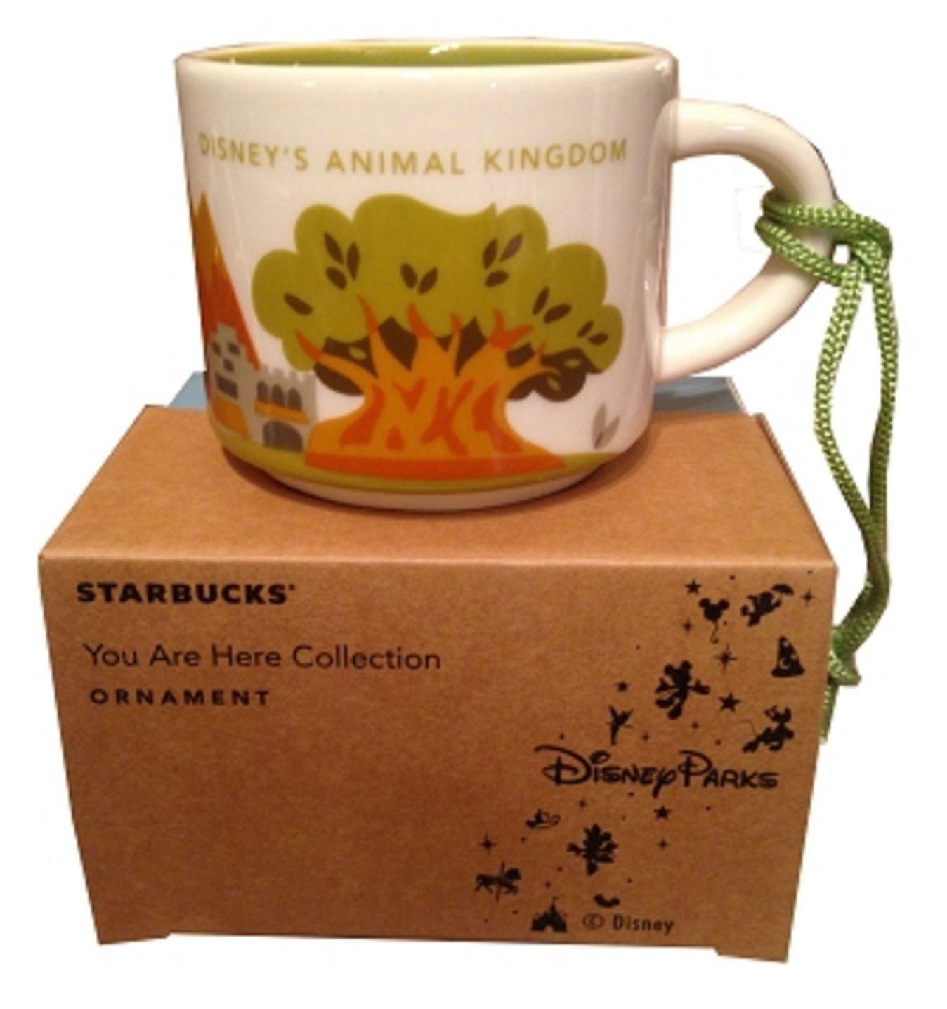 Disney Parks Starbucks You Are Here Animal Kingdom Mug Christmas Tree Ornament