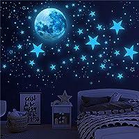1003 peças de adesivos de parede que brilham no escuro, adesivos luminosos do planeta da lua, adesivos de teto de…