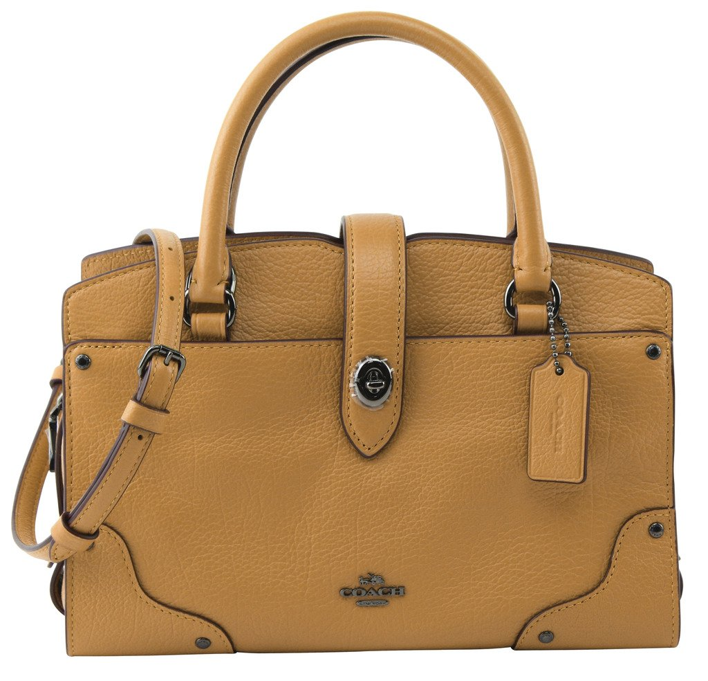 Coach Women's DK Flax Mercer Satchel 24 In Grain Leather, Style F37779