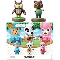 Animal Crossing Series 3-Pack Amiibo (Animal Crossing Series) - Tom Nook - Blathers Amiibo Bundle for Nintendo Switch - 3DS - Wii U (Bulk Packaging)