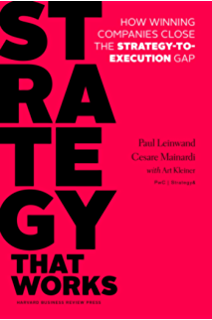 Strategy That Works: How Winning Companies Close The Strategy To Execution  Gap