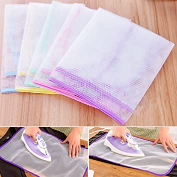 Gift for Housewife BEYST Protective Mesh Net Ironing Cloth 4060CM - 1 Set,Random Mother Girl Protective Ironing Mesh Pressing Pad Easy Portable Collapsible