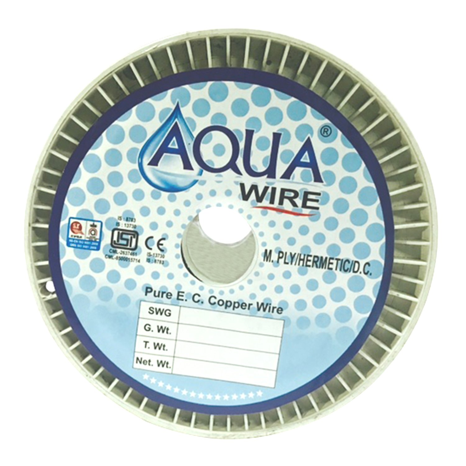 Aqua Wire Copper Winding Wire for Motor Pumps Size: Swg 23 or Dia ...