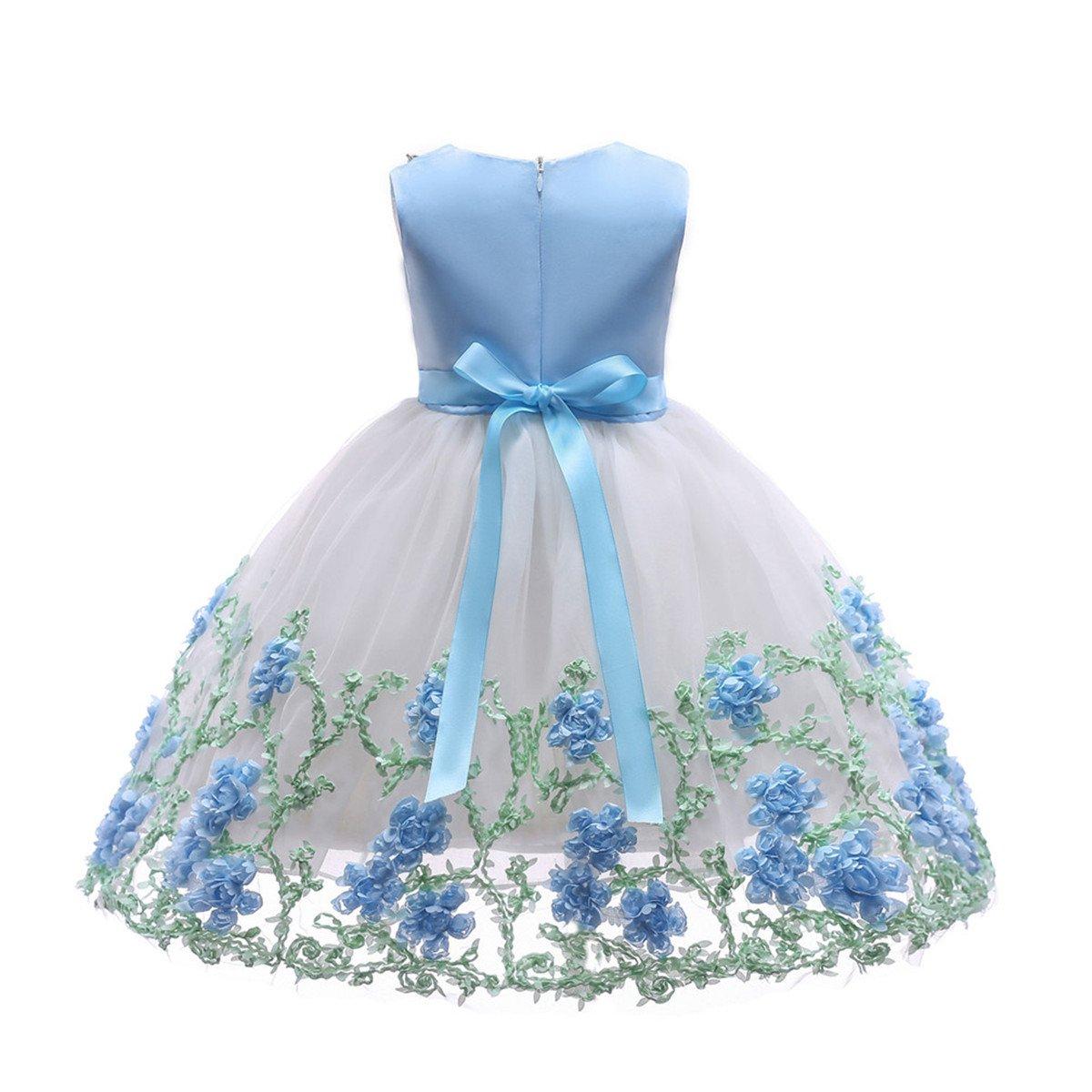 Amazon.com  NSSMWTTC Flower Girl Pageant Dress Kids Party Dresses 483bf695889b