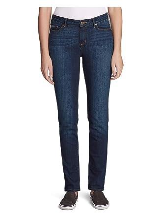 c1585d40c7c Eddie Bauer Women's StayShape Straight Leg Jeans - Slightly Curvy at Amazon  Women's Jeans store
