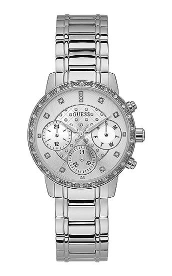 Guess Reloj Multiesfera para Mujer de Cuarzo con Correa en Acero Inoxidable W1022L1: Amazon.es: Relojes