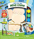 MasterPieces Works of Ahhh Wind Chime with Owl Wood Paint Kit
