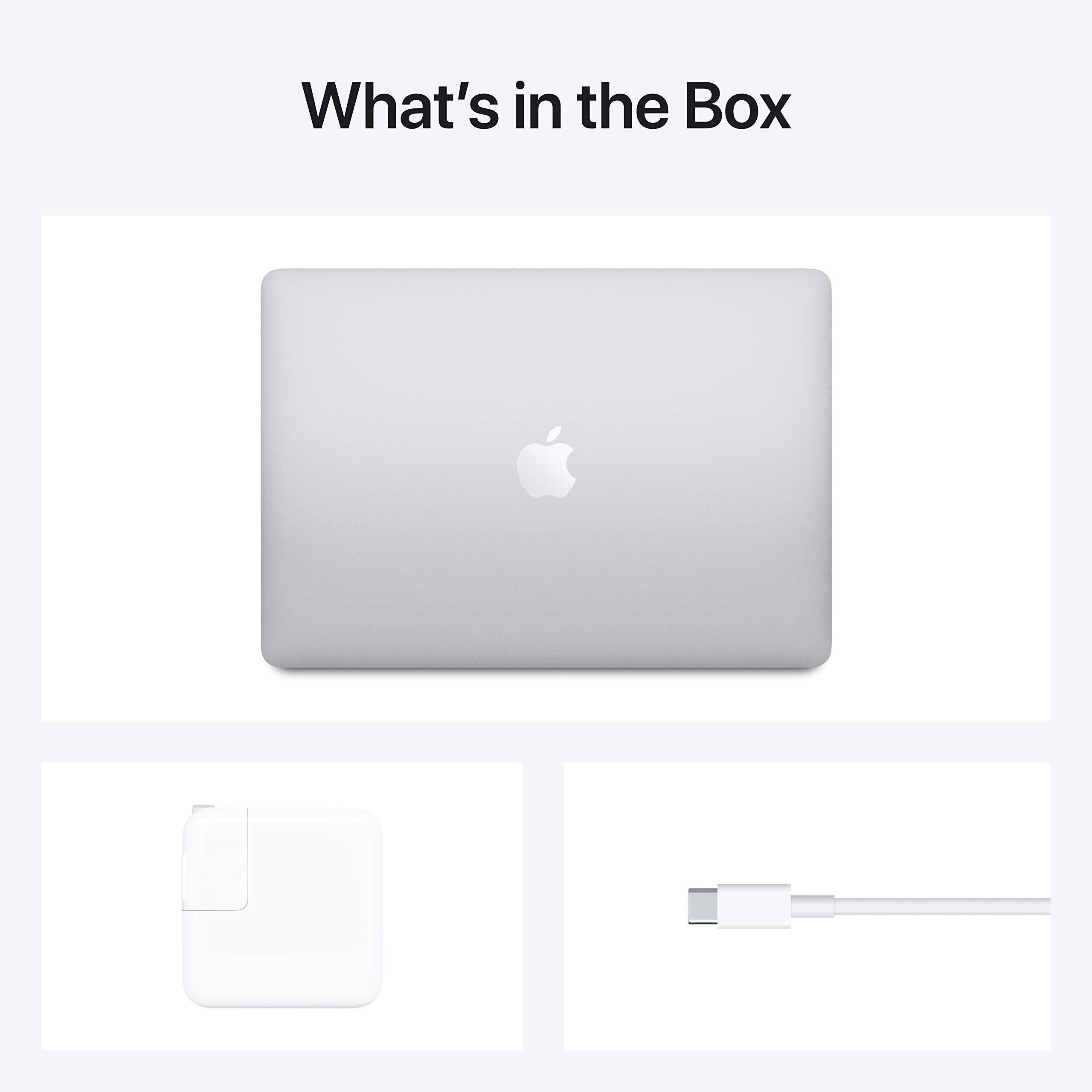 Nuevo Apple MacBook Air con chip Apple M1 (13 pulgadas, 8 GB de RAM, 256 GB de almacenamiento SSD) - Plata (último modelo)
