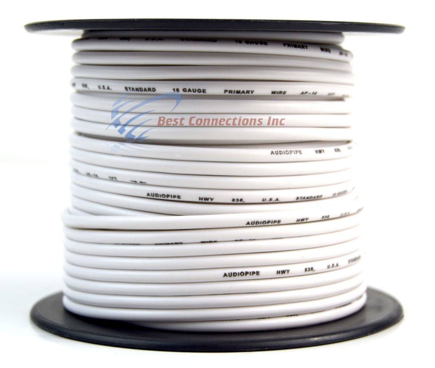 Trailer Wire Light Cable For Harness 7 Way Cord 16 Gauge Wiring Diagram Boat In Addition 4 100ft Roll Rolls Automotive