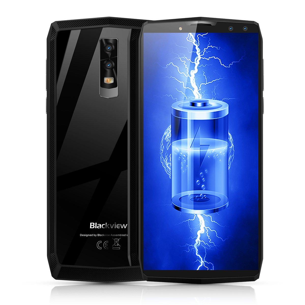Blackview P10000 Pro - 6インチFHD +(18:9の比率、2160 * 1080 p)Android 4Gスマートフォン、11000mAバッテリー、MTK6763 Octa Core 2.0GHz 4GB + 64GB、クワッドカメラ、顔認識、Type-C、GPS - ミラーグレー B07BV6XKHN