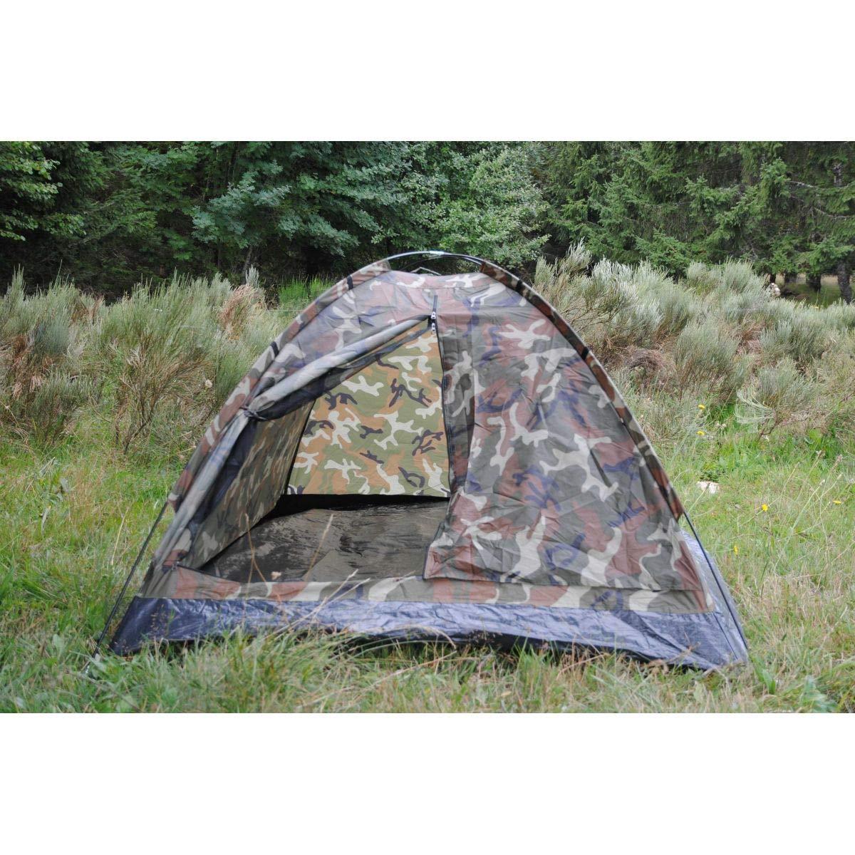 Camo Outdoor Mil-tec - Tienda de campaña (para 2 personas), diseño de iglú de camuflaje diseño de iglú de camuflaje 2230