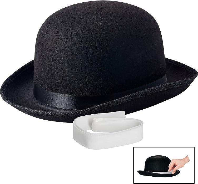 7fd68dca581 Amazon.com  NJ Novelty - Black Derby Hat