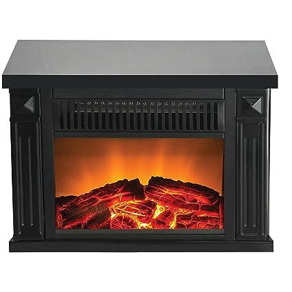 Superieur Warm House TZRF 10345 Zurich Tabletop Retro Electric Fireplace   Black