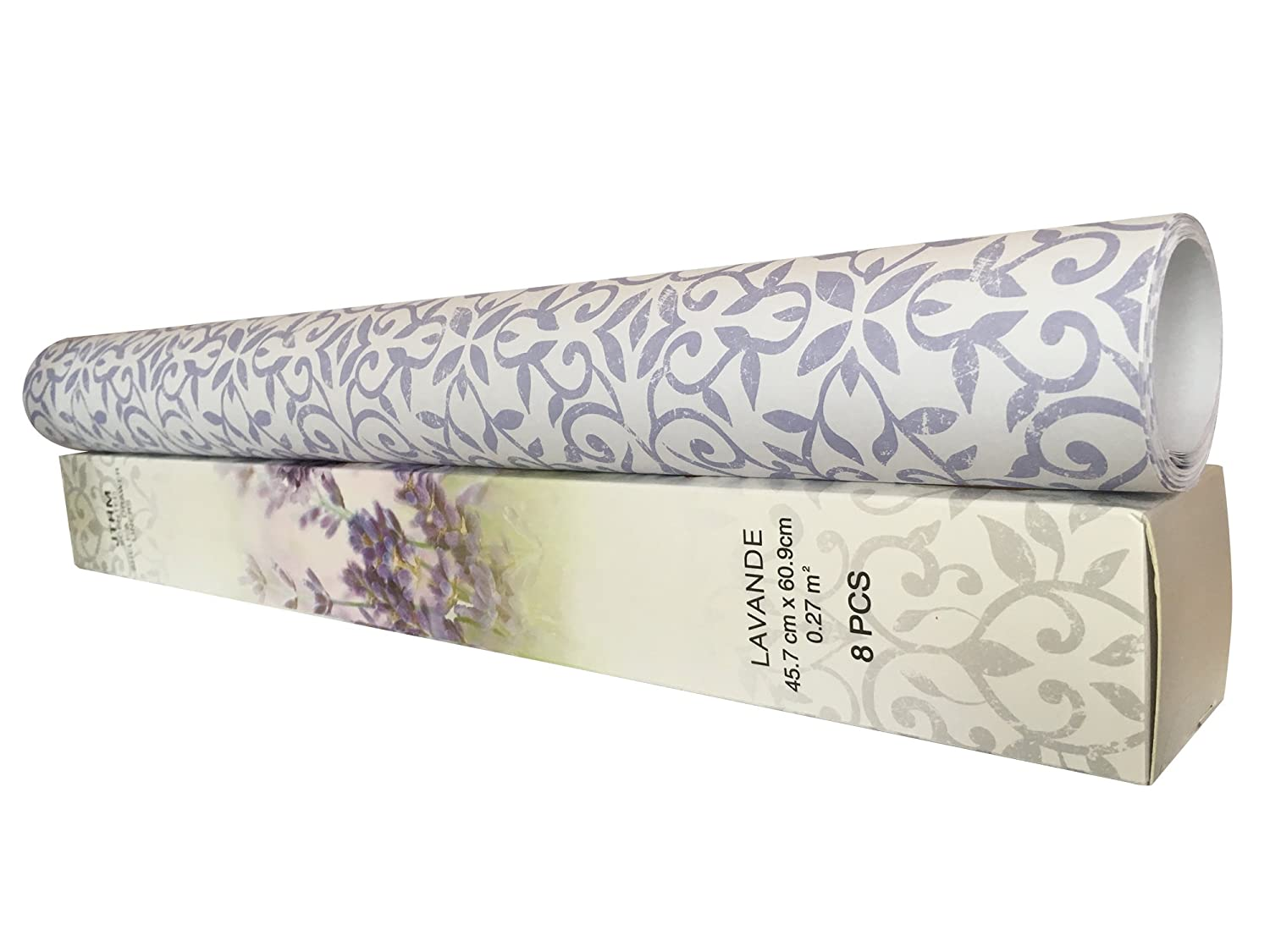 JTHM 8 Sheets Scented Drawer & Shelf Liners - Lavender Fragranced Drawer