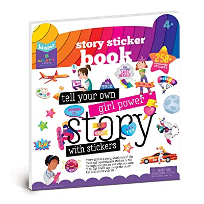 Craft-tastic Jr – Girl Power Story Sticker Book – Inspire Girls to Tell Their Stories with Reusable Stickers: Toys & Games