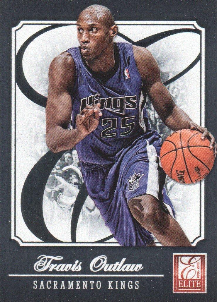 2012-13 Elite Basketball #35 Travis Outlaw Sacramento Kings