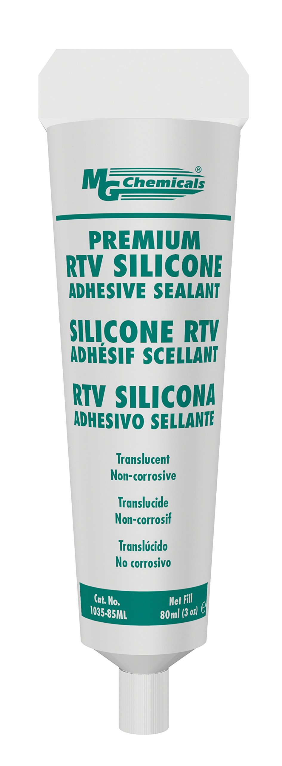 MG Chemicals 1035-80ML Non Corrosive Translucent 1-Part RTV Silicone Adhesive Sealant, 80 ml Tube by MG Chemicals