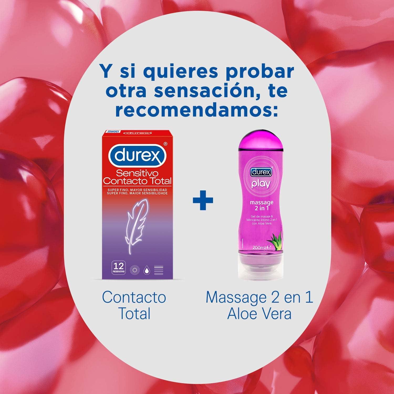 71KpuTum5cL._AC_SL1500_ Durex Preservativos Super Finos Contacto Total - 12 condones: Salud y cuidado personal