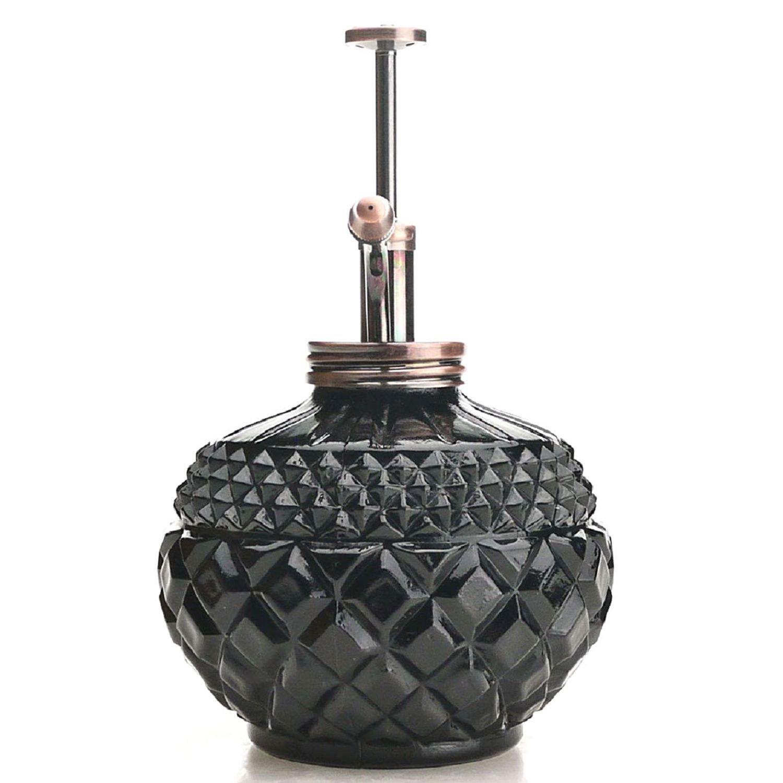 Schwarze Glas Flasche /& Messing-Spritzger/ät Purismus-Stil Pflanze Mister