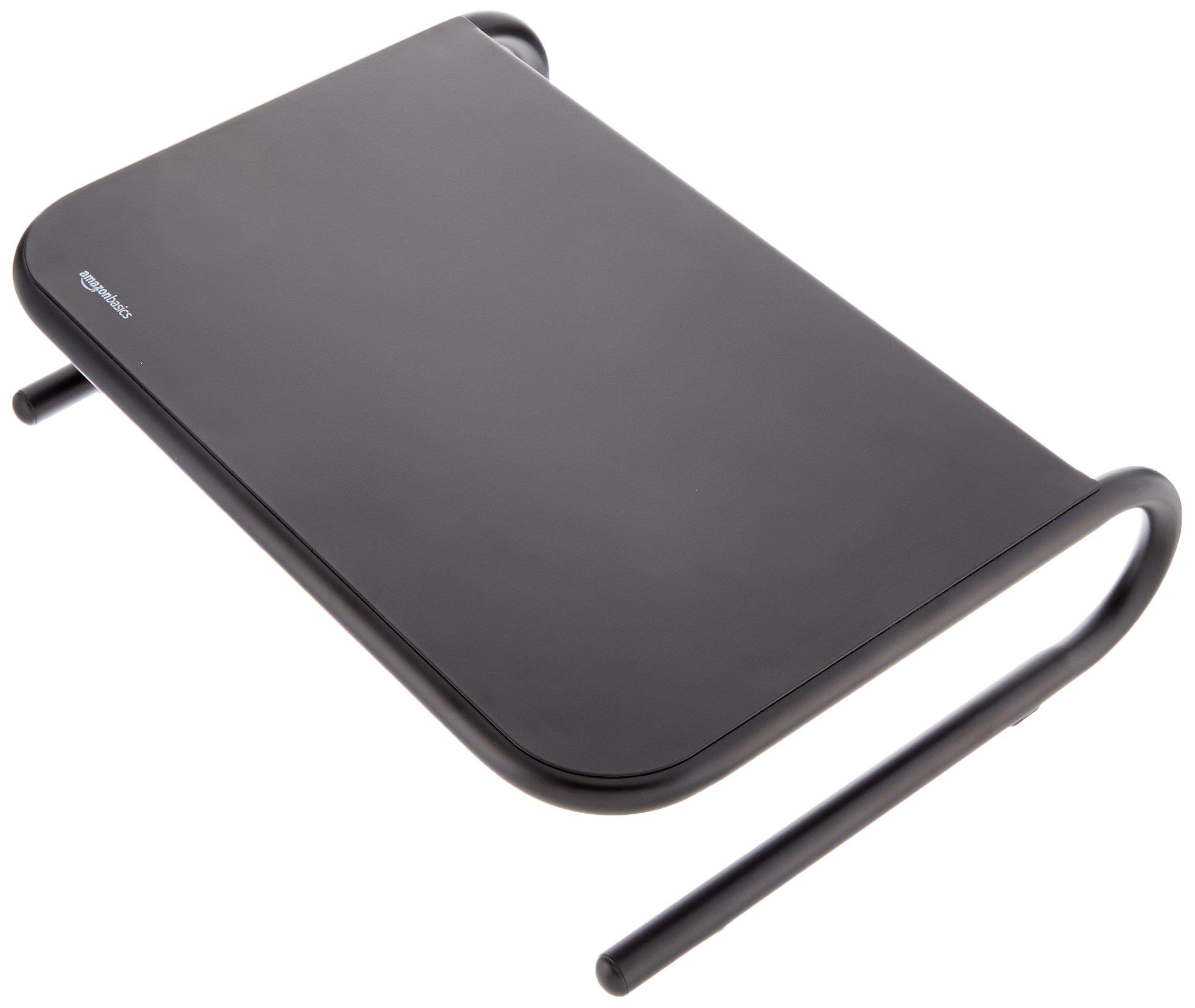 AmazonBasics Metal Laptop Computer Monitor Riser Stand - Black by AmazonBasics