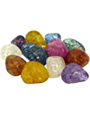 12 Magic Stones | Gefrostete bunte Bergkristalle im Beutel | Eine tolle Idee für Kinder, Schmuckherstellung oder Dekoration