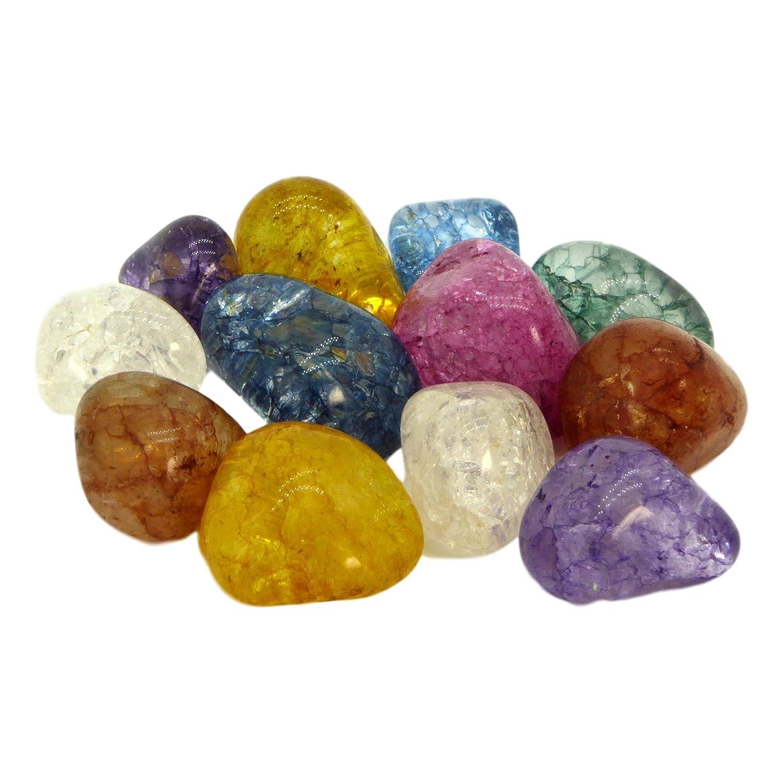 10 Magic Stones | Gefrostete bunte Bergkristalle im Beutel | Eine tolle Idee für Kinder, Schmuckherstellung oder Dekoration Metavio MV6