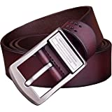 MRACSIY Men Pin Buckle Belt Genuine Leather