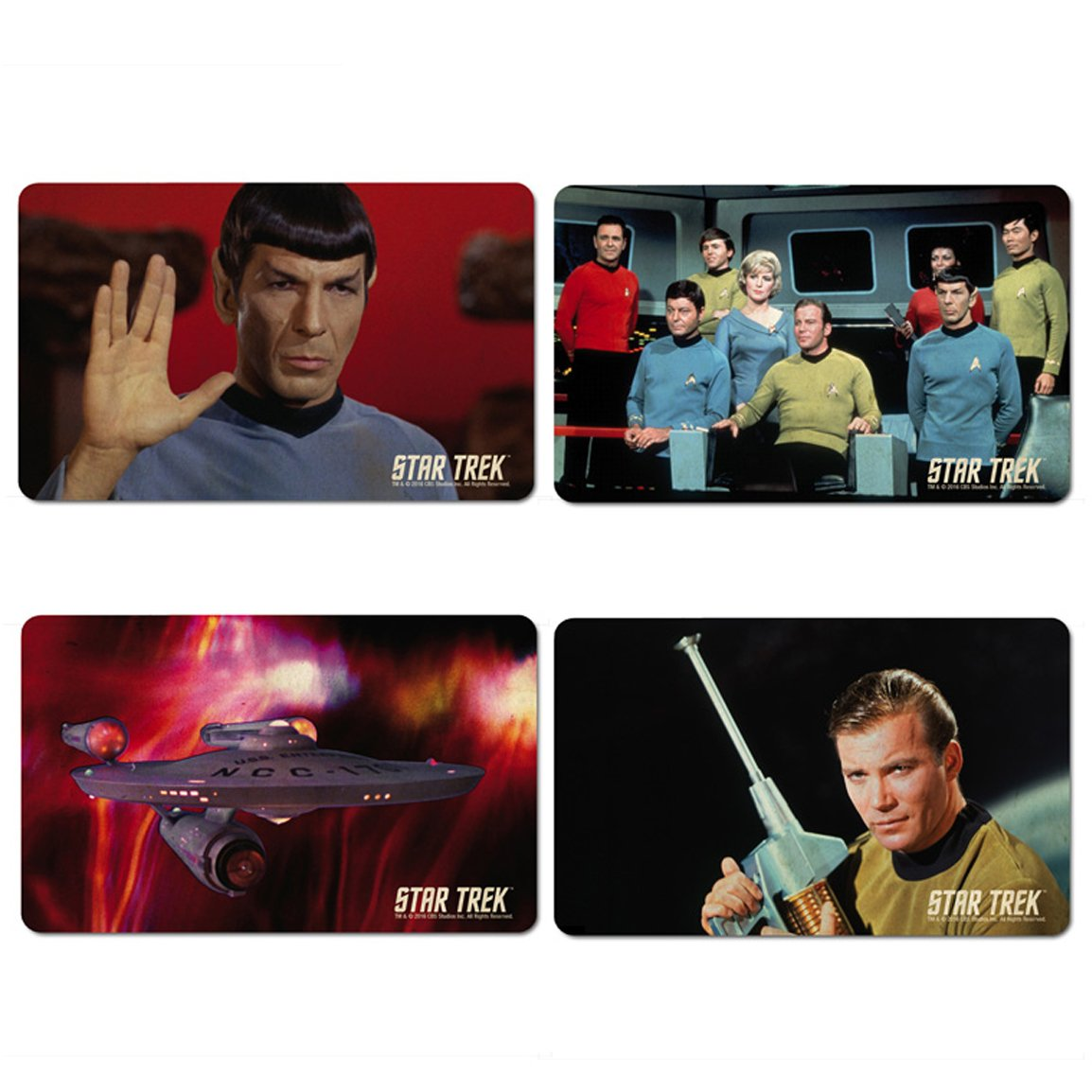 Star Trek - USS Enterprise Crew - Mr. Spock & Captain Kirk Set of Breakfast boards - Set of 4 chopping boards - multicoloured - Licensed original design - LOGOSHIRT