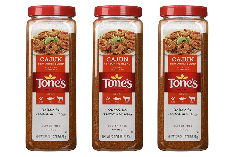 Tones Cajun Seasoning - 22 oz. shaker (3 Pack)