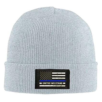 53132e599e869 THIN BLUE LINE - BLUE LIVES MATTER Unisex Warm Winter Hat Knit Beanie Skull  Cap Cuff