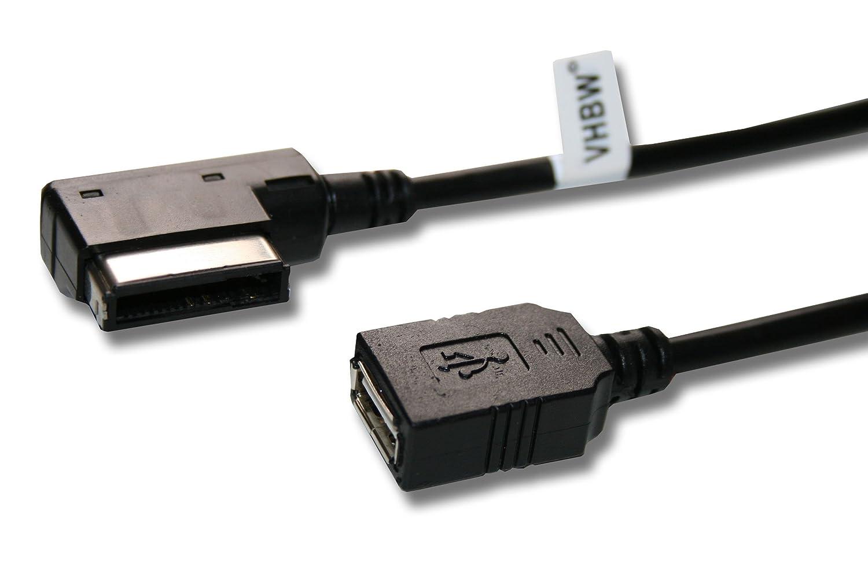 Câble de connexion AMI pour clé USB avec système MMI pour différents systèmes audios vhbw VHBW4250318634558