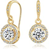 Mestige MSER3135 Women's Gold Plated Crystals Drop and Dangle Earrings