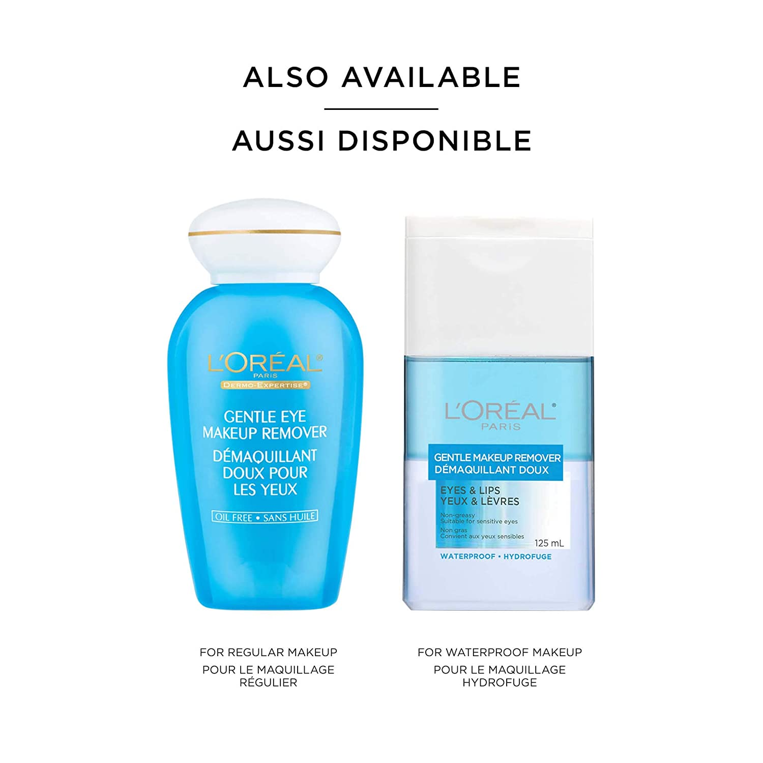 L'Oreal Paris Gentle Eyes & Lips Makeup Remover for Waterproof mascara, Non-greasy, Suitable for sensitive skin, 125 ml: Amazon.ca: Beauty