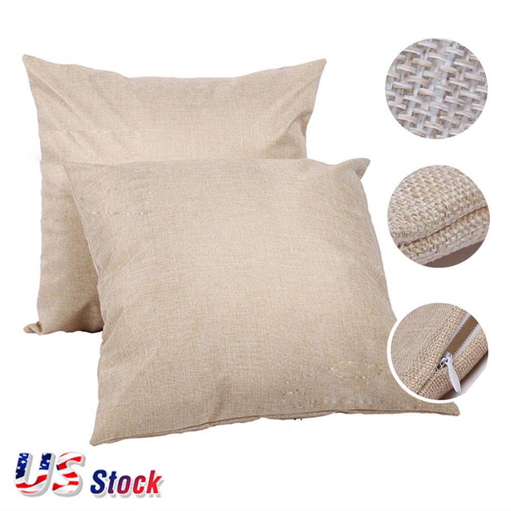 H-E In US Stock - Linen 3D Sublimation Blank Pillow Case Fashional Cushion Cover Pillowcase, 50pcs/carton