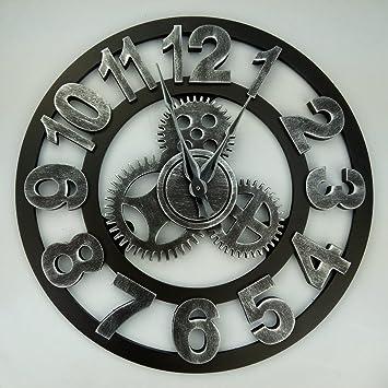 ZEM-PXD European creative personality nostalgic living room wall clock LOFT American Retro Clock Industrial