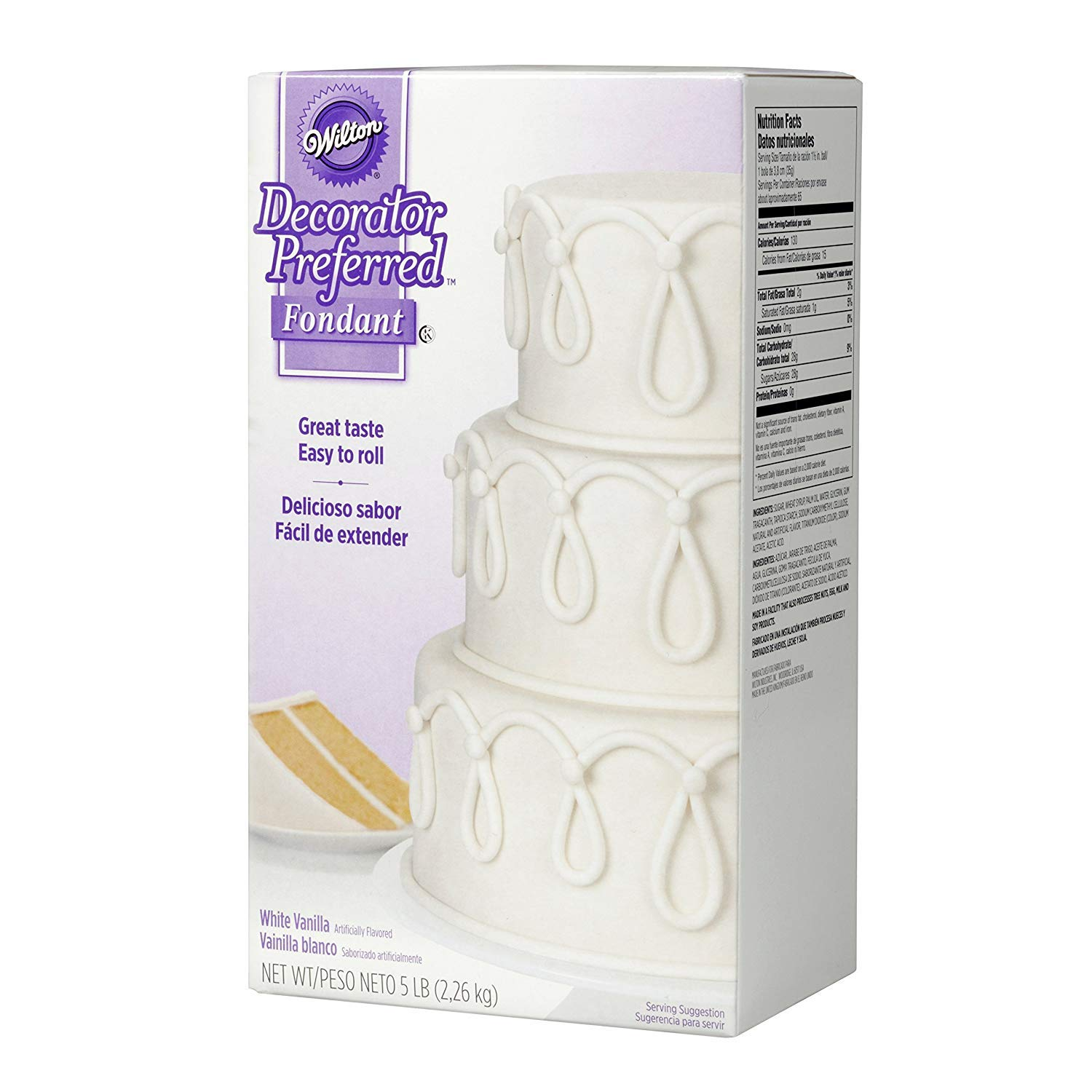 Wilton Decorator Preferred White Fondant, 5 lb 4Pack by Wilton (Image #8)