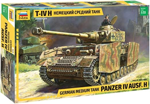 ZVEZDA 500783620 – Maqueta de Tanque IV Ausf.H (SD. Kfz 161/2), maqueta, construcción de Modelos, Manualidades, Juego de construcción de plástico: Amazon.es: Juguetes y juegos