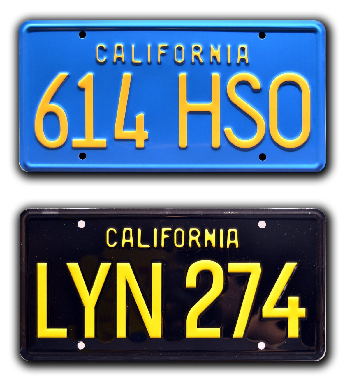 Celebrity Machines Gone in 60 Seconds Eleanor /'67 Mustang Metal Stamped Vanity Prop License Plate Combo