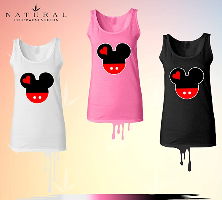 e7fd631b1832a Disney Family Trip Tank Tops for Women Mickey Mouse Head Disneyland Women True  Size Camisole Shirts. Back. Double-tap to zoom